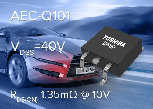 Toshiba launches automotive MOSFET with industry-leading on-resistance