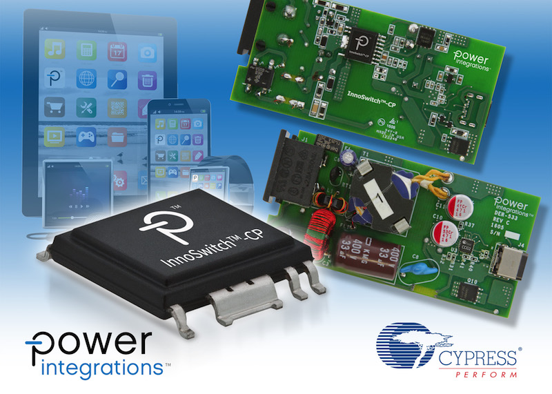 Power Integrations and Cypress announce reference design for USB-PD-compliant fast chargers