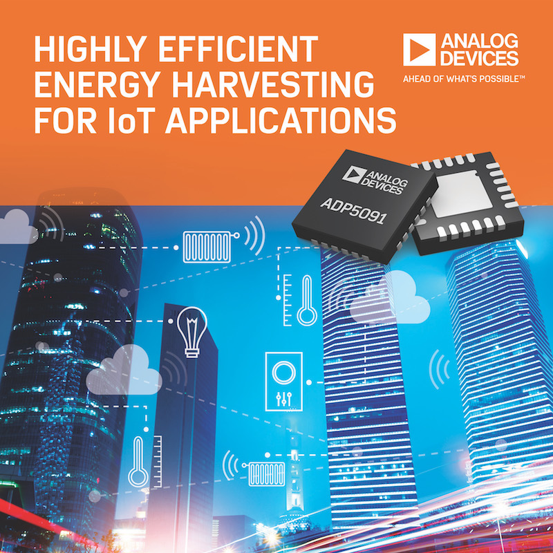 Analog Devices' power management unit (PMU) empowers energy harvesting in IoT apps