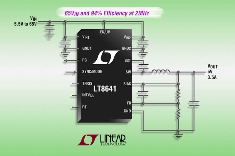 Linear's latest synchronous step-down Silent Switcher delivers 94% efficiency at 2MHz & ultralow EMI