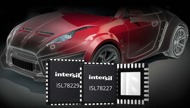 Intersil's Multi-Phase 55V Synchronous Boost Controllers Simplify Automotive Power System Design