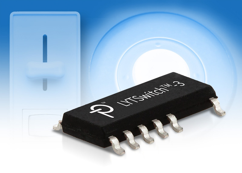 Power Integrations' LYTSwitch-3 LED drivers support widest range of TRIAC dimmers