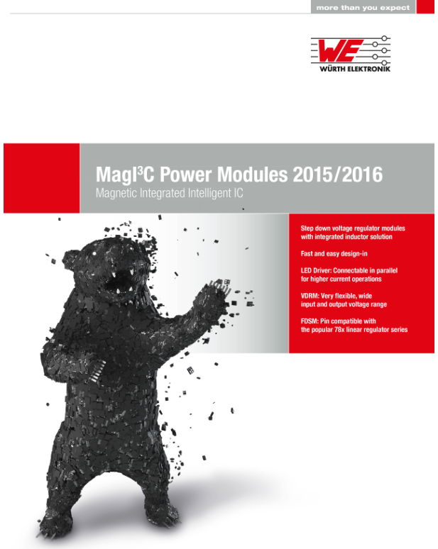 Wuerth Elektronik eiSos presents updated power module catalog