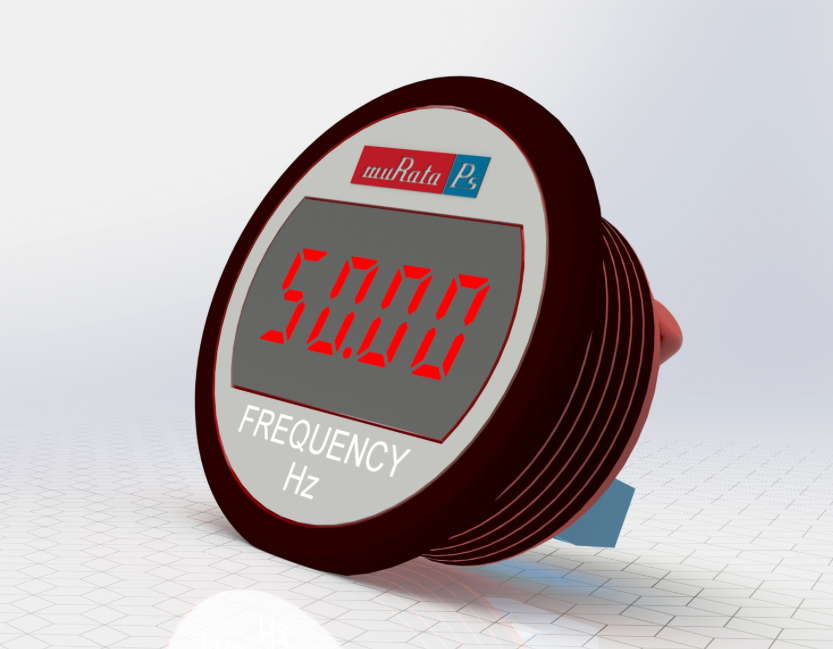 Murata's self-powered LED meter displays AC line frequency