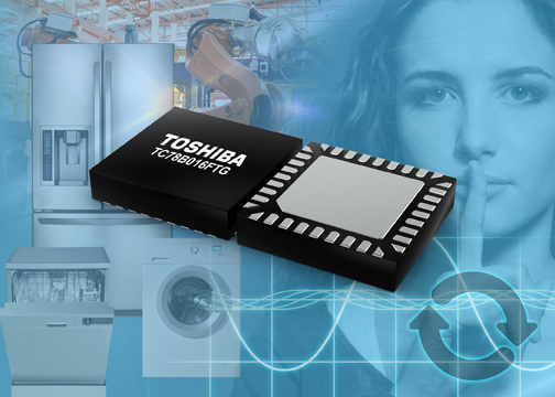 Toshiba announces three-phase brushless motor driver with sine-wave drive