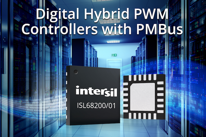 Intersil's digital hybrid PWM controllers with PMBus simplify power design for data center equipment