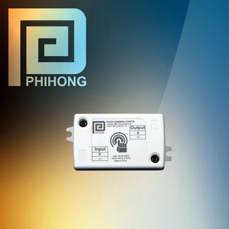Phihong's 10A touch-dimming control module serves constant-voltage LED lighting