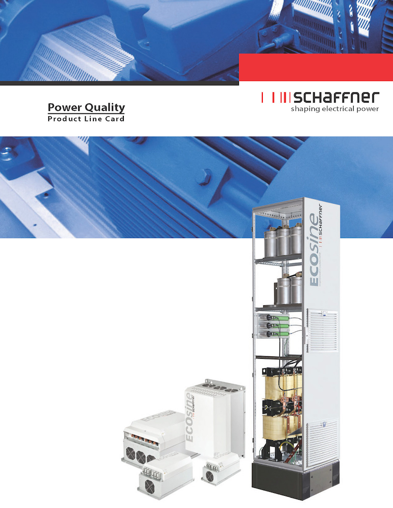 Schaffer's latest line card details their power quality products
