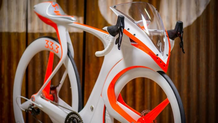 Advanced concept bike leaps beyond racing rules