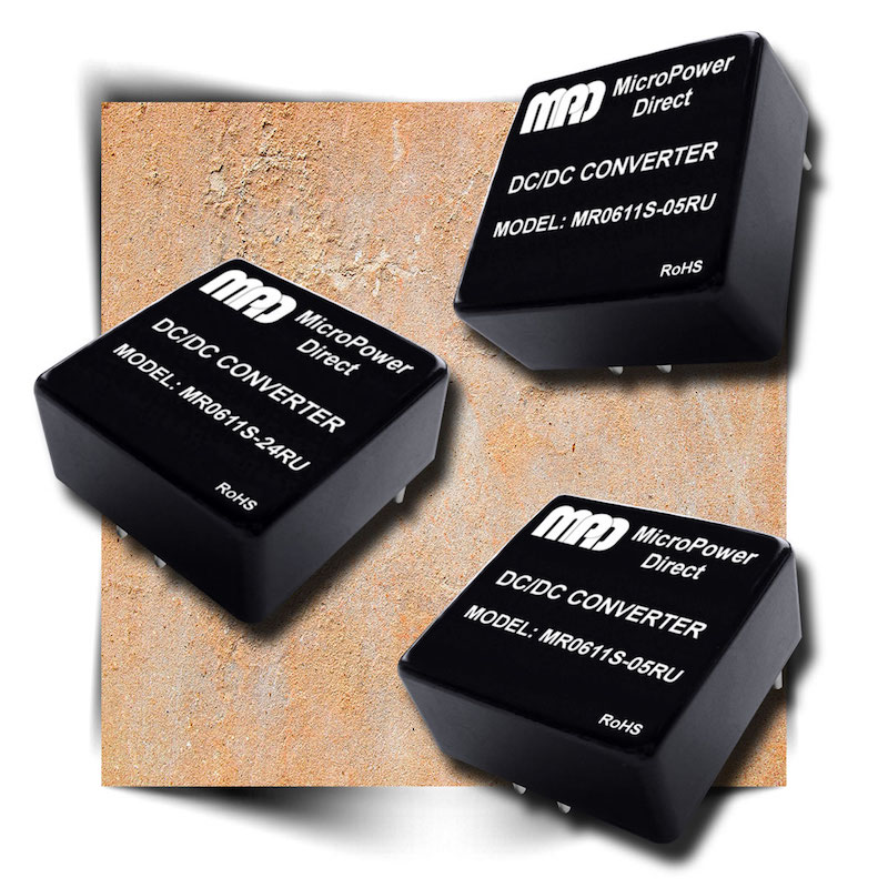 MicroPower Direct unveils mini 6W ultra-wide input railway DC/DC converters