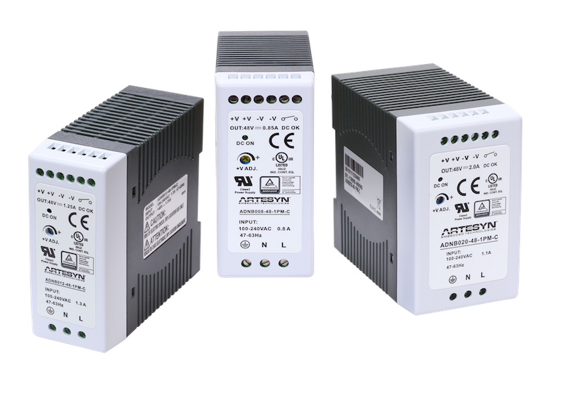 Artesyn's cost-effective, long-life DIN Rail supplies suit industrial apps