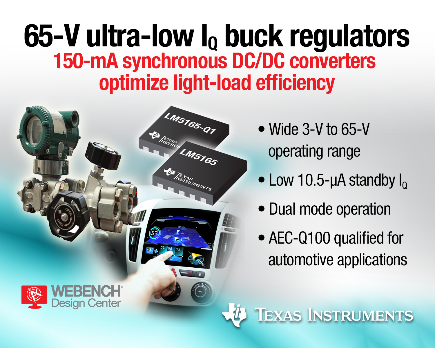 TI's 65-V micro-power buck converters claim industry's lowest quiescent current