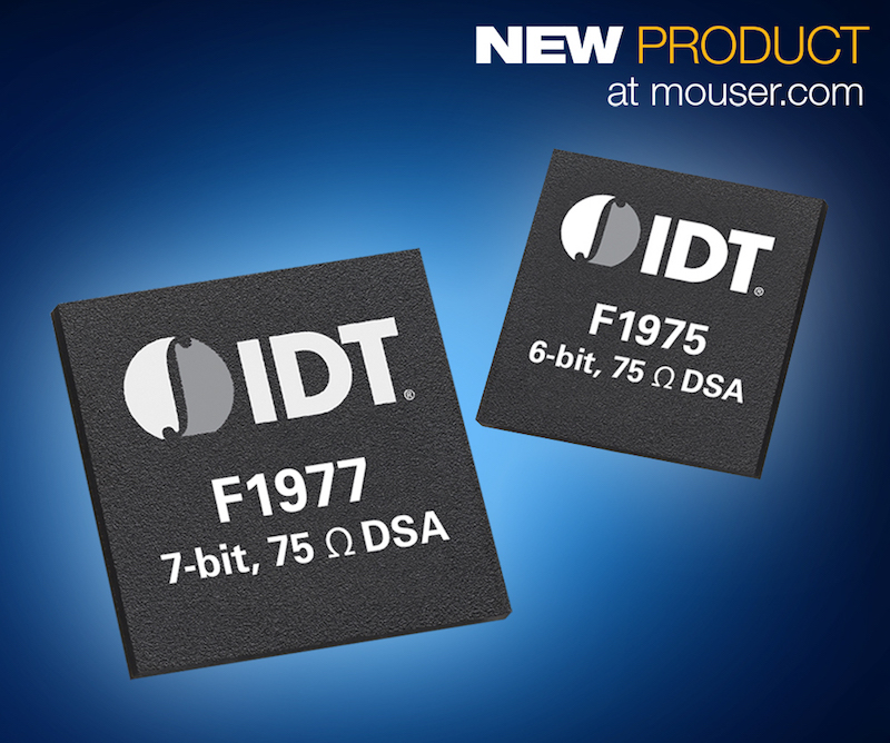 IDT's F197x digital step attenuators now available from Mouser