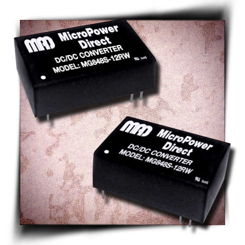 Micropower Direct unveils compact, 8W, isolated MiniDIP DC/DC converters