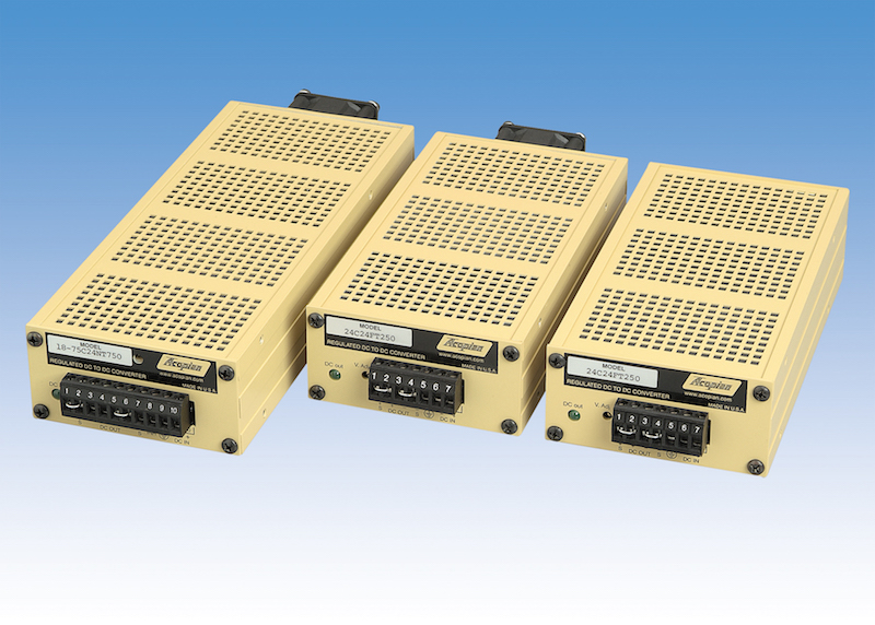 Acopian's 288W narrow-profile DC/DC regulated supply series now UL, CE and RoHS compliant