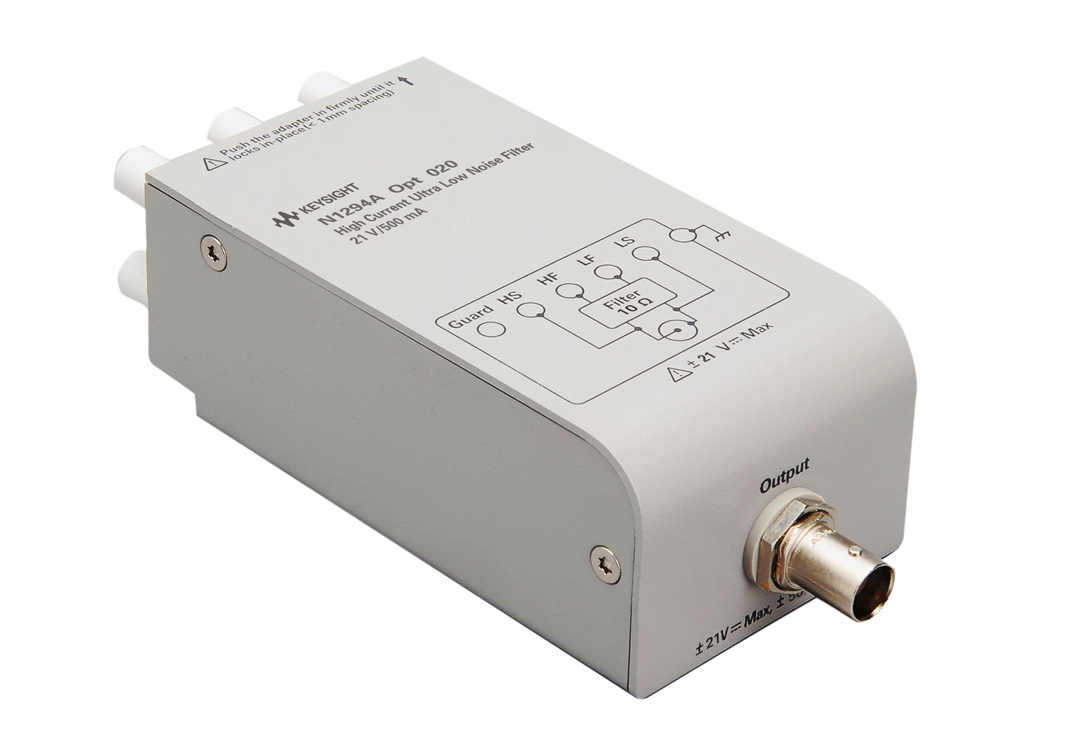 Keysight's new high-current low-noise filter extends power source's output to 500 mA