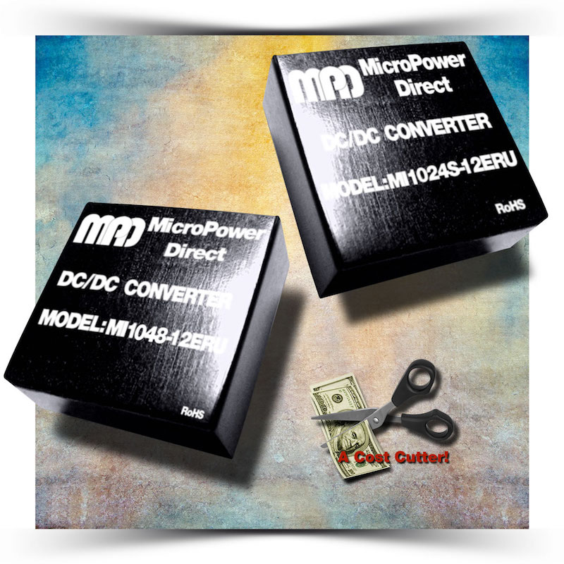 MicroPower Direct's latest converters target space-constrained apps