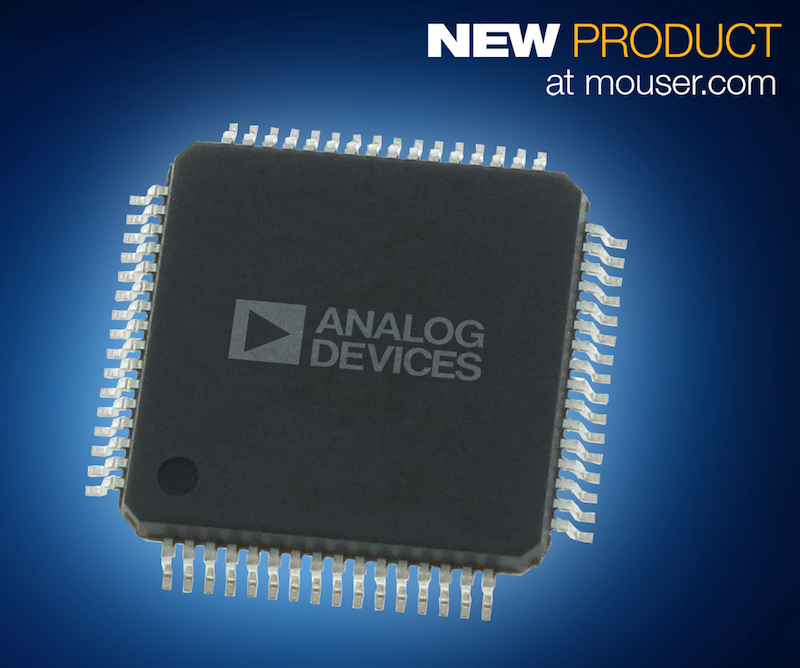 Analog Devices' AD7768 8-Channel, 24-Bit, simultaneous sampling ADC now at Mouser