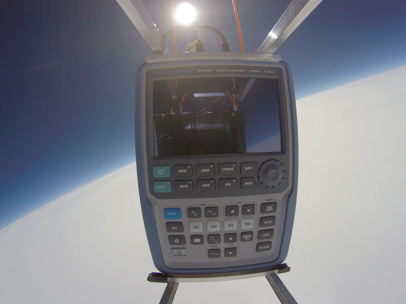 Handheld instrument sent into space to launch R&S Scope Rider competition
