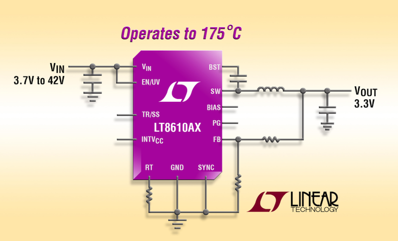 Linear's latest synchronous step-down regulator operates to 175°C