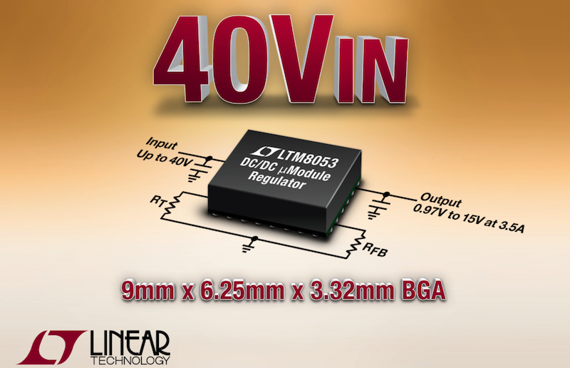 Linear's latest 6.25 x 9 mm BGA p-packaged ÂμModule regulator suits industrial systems, factory automation, & avionics
