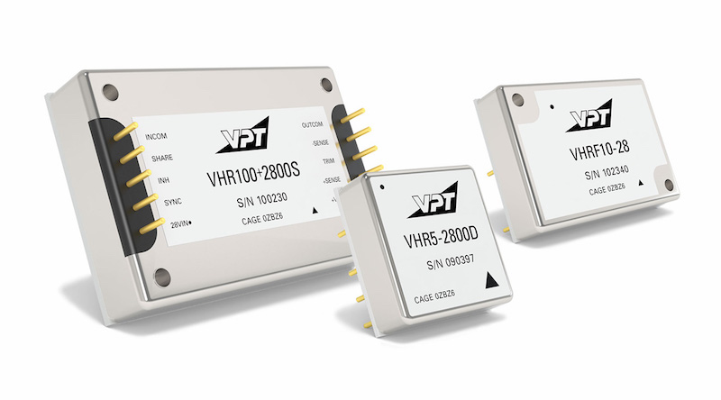 VPT adds industrial VHR Series DC-DC converters