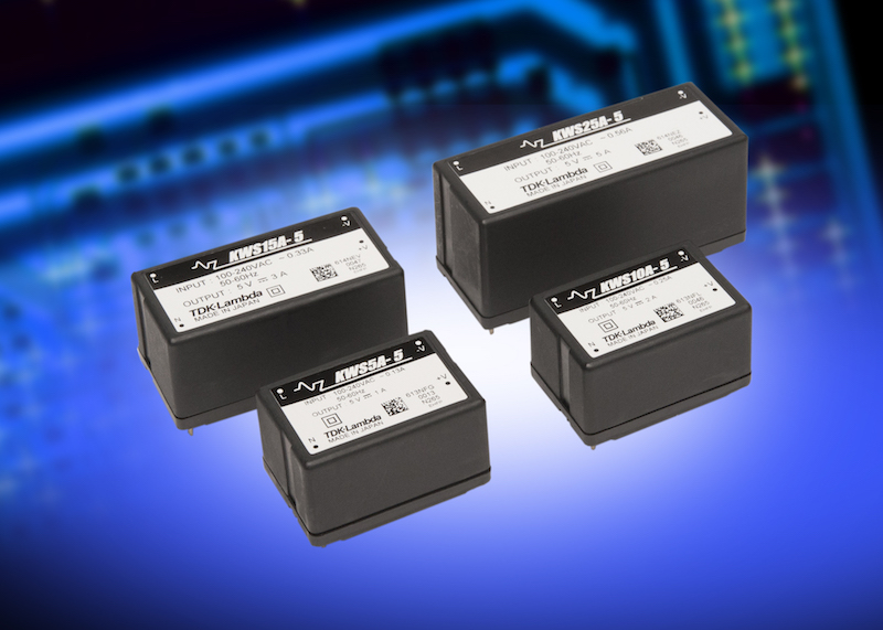 TDK's Class II encapsulated power supplies operate in high ambient temperatures