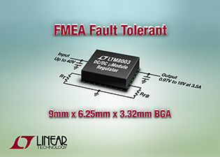 Linear's latest ÂμModule regulator is FMEA compliant, operates to 150°C junction temp