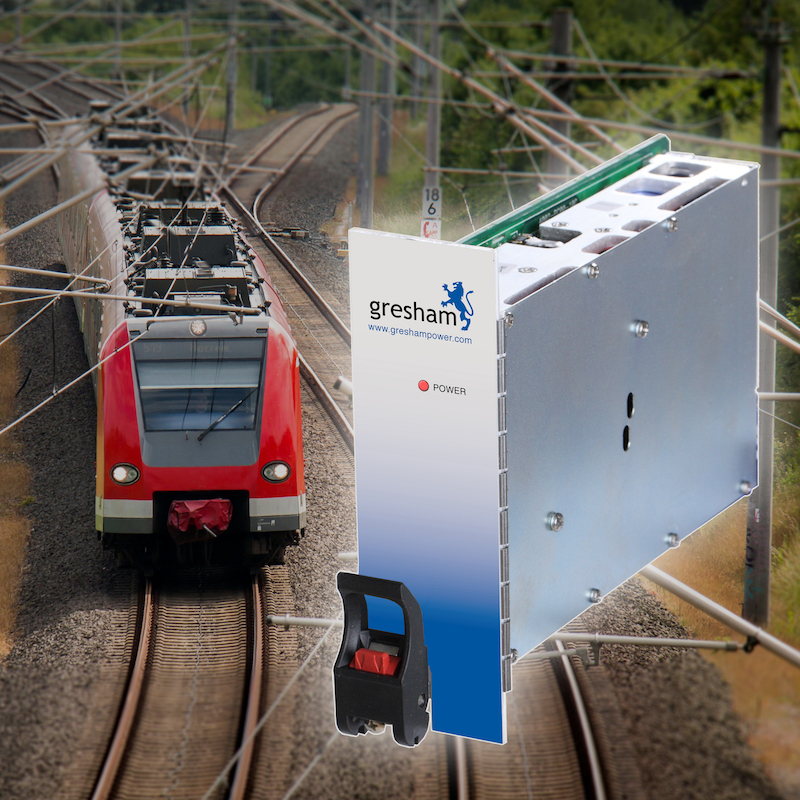 Gresham's 300W 3U DC-input CompactPCI supply suits railway and trackside apps