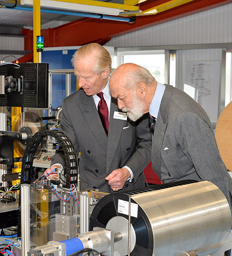 HRH Prince Michael of Kent helps Harwin open new manufacturing facility in UK