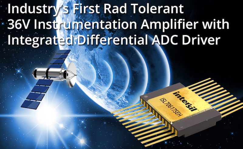 Intersil claims first rad-tolerant 36V instrumentation amplifier with integrated differential ADC driver