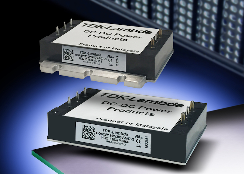 TDK's high-performance 120W DC-DC converters handle harsh environments