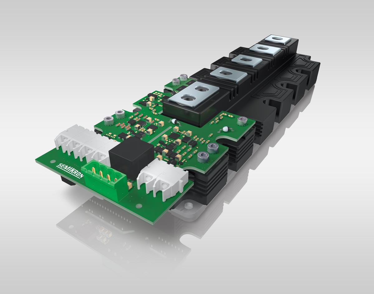 Semikron's IGBT driver with optical interface saves external sensors