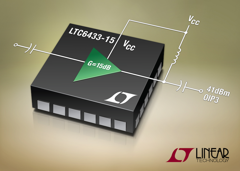 Linear's latest gain block delivers 47dBm OIP3 linearity with low noise
