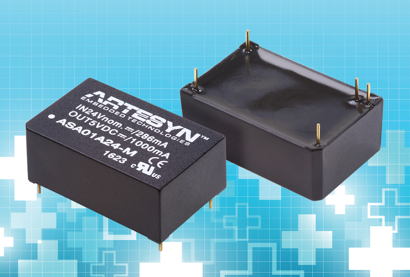 Artesyn's newest 6W DC-DC converters feature medical safety approval