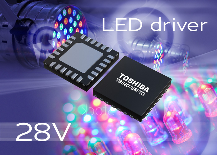 Toshiba helps downsize LED modules with single-wire input illumination LED driver