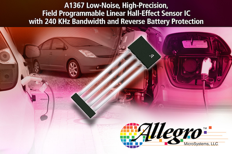 Allegro's new high-precision field-programmable linear hall-sensor IC offers reverse battery protection