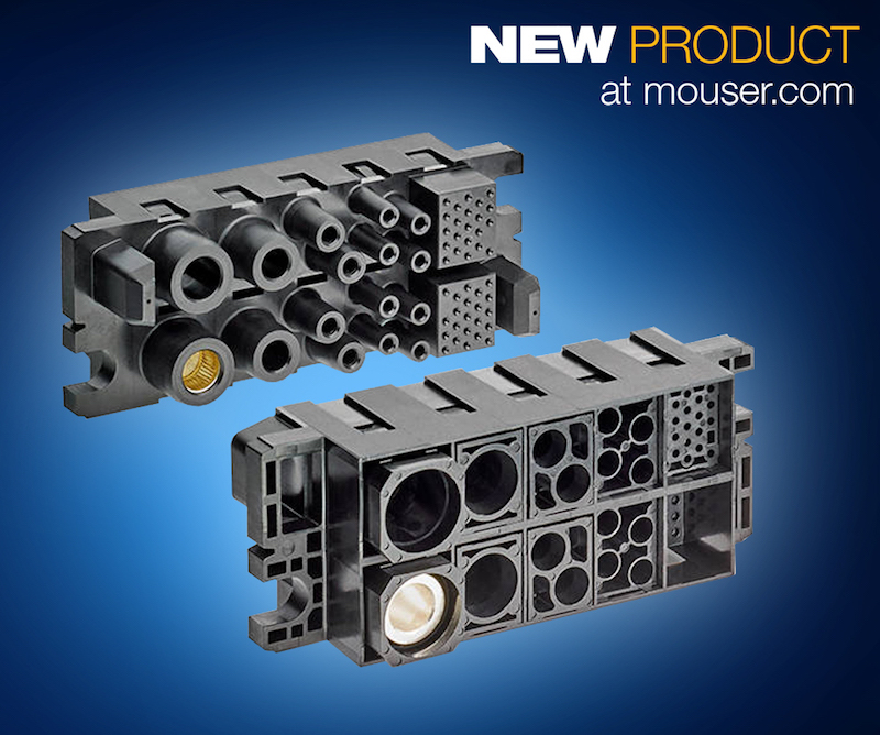 TE Connectivity's modular high-power FORGE drawer connectors now at Mouser