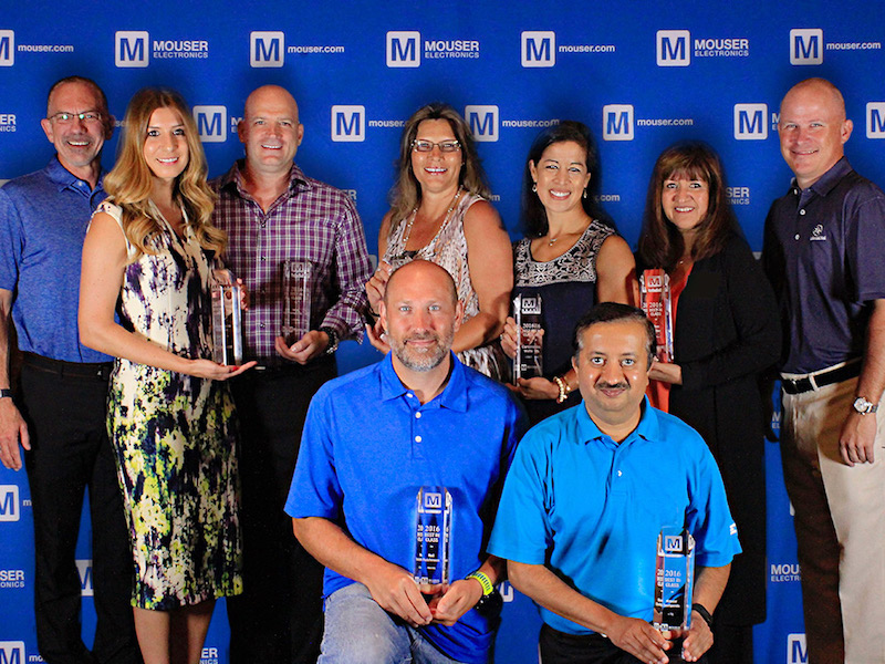 Mouser honors its 2016 Best-in-Class Award winners
