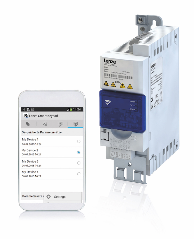 Lenze's i500 frequency inverters offer enhanced WLAN diagnostics