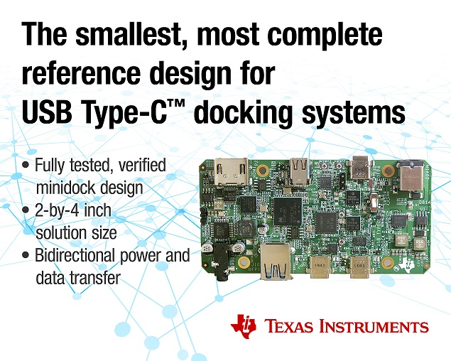 TI's USB Type-C docking system design can cut solution size in half