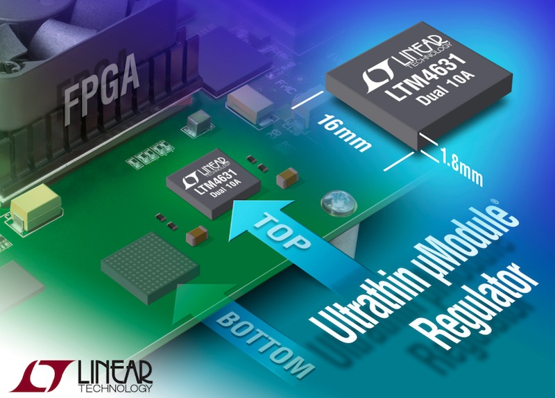 Linear's ultrathin ÂμModule regulator gets close enough to share the heat sink