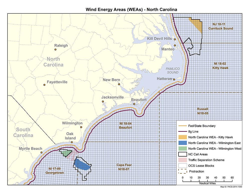Interior announces milestone for wind energy development offshore North Carolina