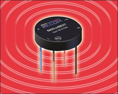 Recom's tiny 2W and 3W AC/DC converters for small smart electronics now at Dengrove