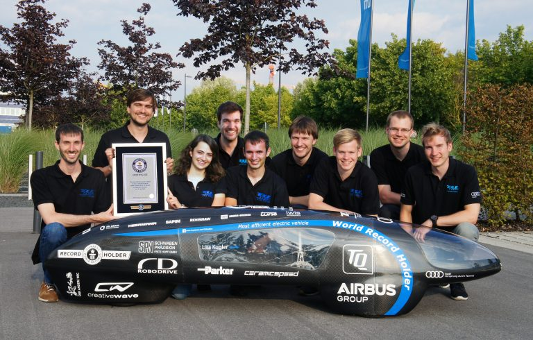 TUfast Eco Team achieves Guinness World Record for Most Efficient EV