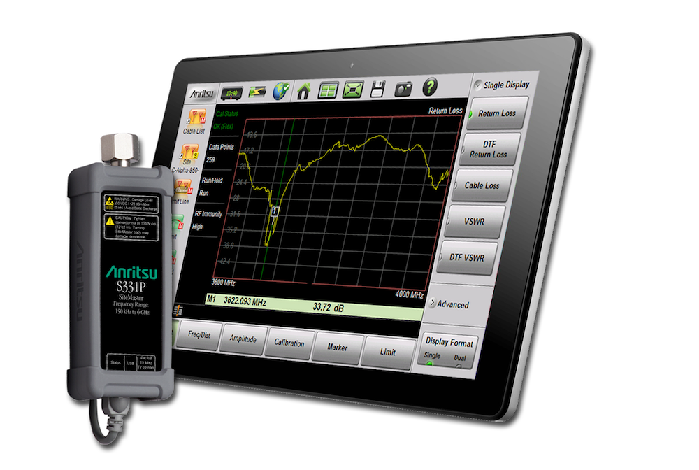 Anritsu's ultraportable Site Master analyzer claims the smallest form factor available
