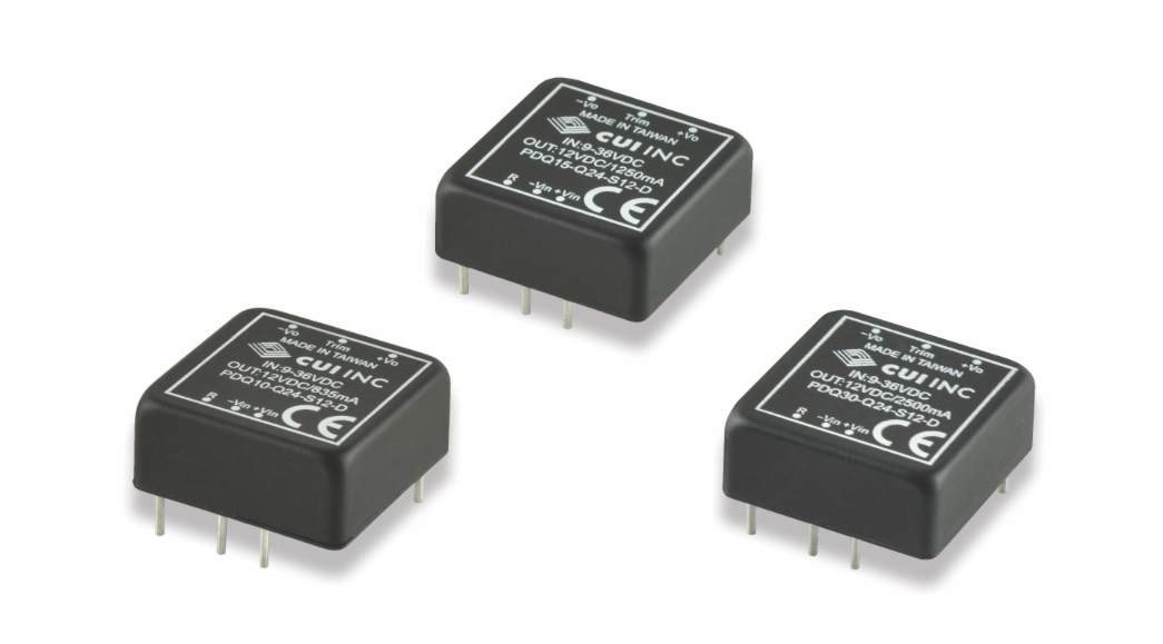 CUI's rugged 1x1-in. isolated DC-DC converters offer high effficiency in an encapsulated package