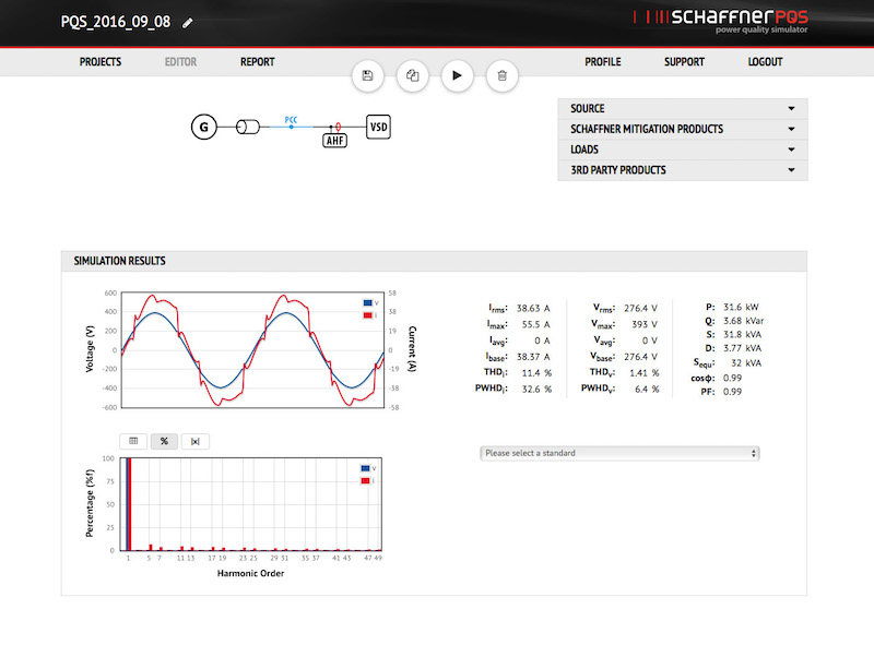 Schaffner unveils updated online power-quality simulator