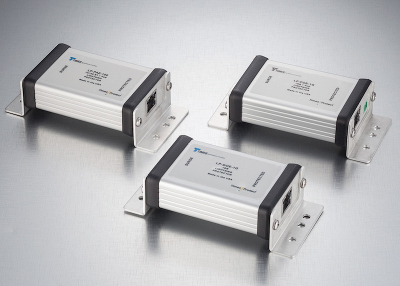 Times Microwave's data line protection surge protectors now at CDM