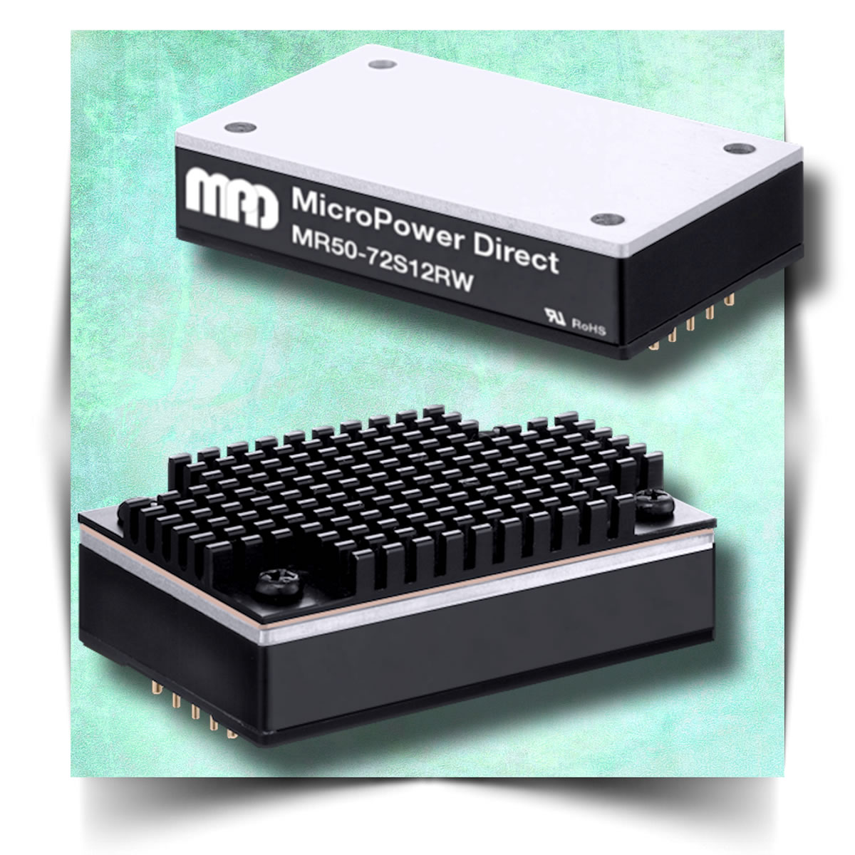 MicroPower Direct offers compact, wide-input, 50W railway DC/DC converters